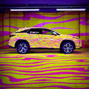 Lexus RX dressed by Jeremy Scott