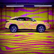 Lexus RX dressed by Jeremy Scott