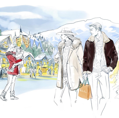 Loro Piana Gstaad illustration