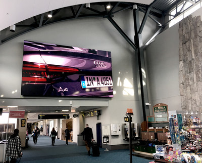 Audi appeals to travelers with Vancouver airport placement