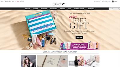 Lancome Web site