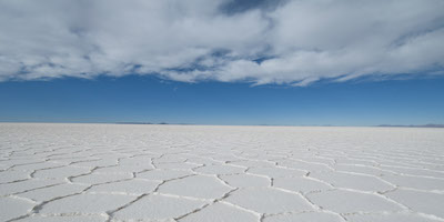 Polygonal patterns on salt flats, Salar de Uyuni,Potosi area,Bolivia,South America; Shutterstock ID 109982909; PO: Ref: Chile and Bolivia Project; Client: Bentley Motors Ltd