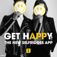 Promotional image for Selfridges' shoppable app