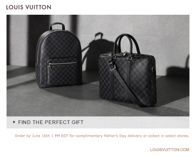 Louis Vuitton Father's Day email