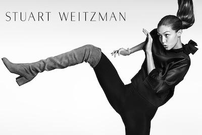 Gigi Hadid Stars In Stuart Weitzman Fall '16 Campaign