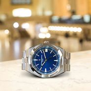 Vacheron Constantin Overseas timepiece captured at New York's Grand Central