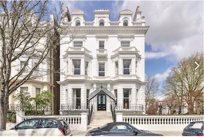Notting Hill, London home via Knight Frank