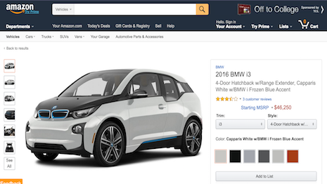 Amazon starts auto research and review site