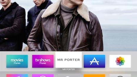 Mr Porter's Apple TV app