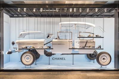 Barneys Chanel window cruise 2017