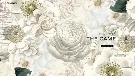 Chanel follows branding to the T. Image courtesy of Chanel's Camellia campaign