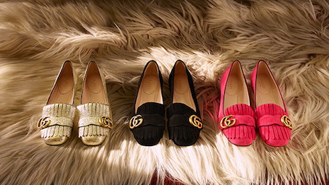 Gucci is one of the most prolific users of email, juxtaposing arresting imagery with colorful product. This latest email dropped Oct. 20 to push its GG Marmont ballet flats