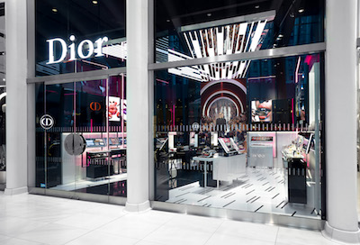 Luxury and travel hub beauty begins retail strategy for Exterior standalone retail