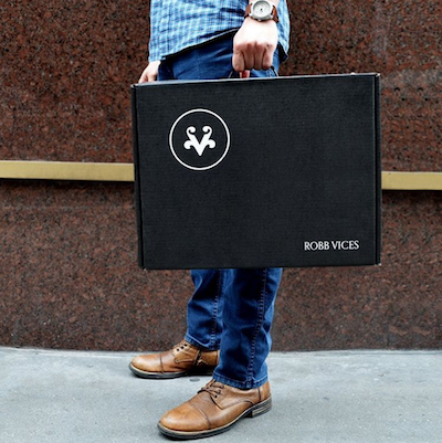 robb vices.man with box