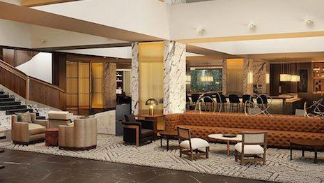 Four Seasons Houston's renovated lobby