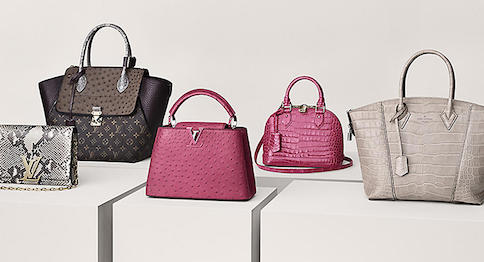 Louis Vuitton's Rare and Exceptional handbags in exotic skins