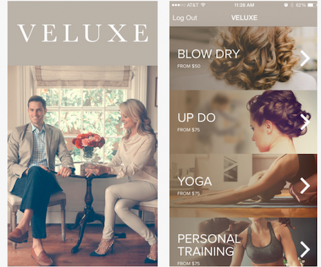 Veluxe is a technology platform for in-home health, wellness and beauty lifestyle services