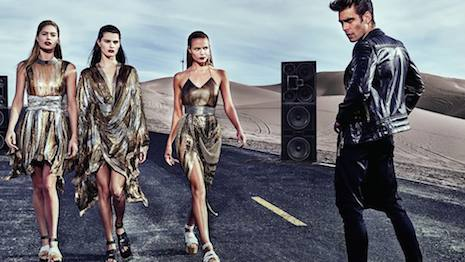 Image from Balmain's spring/summer 2017 ad campaign