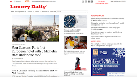 Luxury Daily is the indispensable read for the world's leading luxury marketers