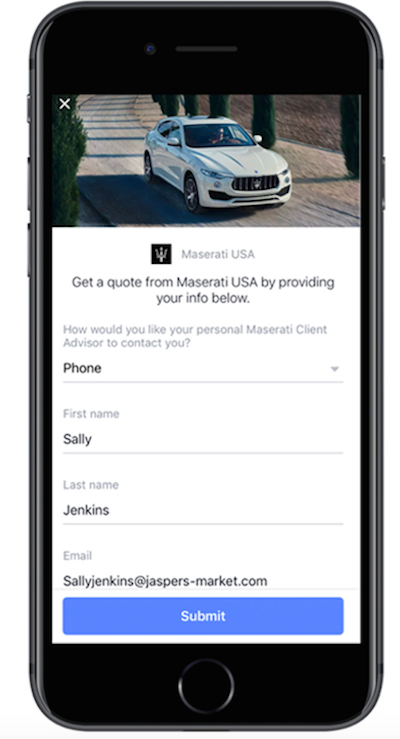 How Maserati was able to generate 21K leads through Facebook targeting