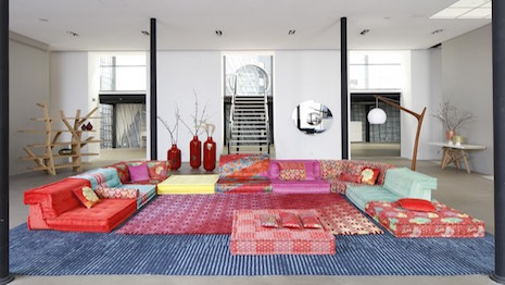 The Mah Jong Sofa Redesigned By Kenzo Takada. Image Credit: Roche Bobois