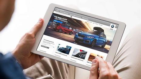 1e00c9f2 BMW's U.K. online store lets consumers shop 500,000 BMW and Mini products.  Image courtesy of BMW