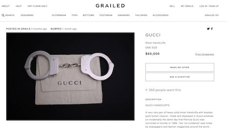 f4f9c18817c Tom Ford-era Gucci handcuffs on sale for  65
