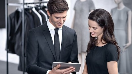 ff8ddb39fc In-store technology is a key concern of sales associates. Image credit   Hugo Boss